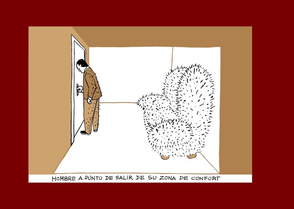 Zona de confort. Ilustración de Marta Gómez-Pintado