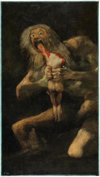 Saturno devorando a sus hijos, de Francisco de Goya. Museo del Prado