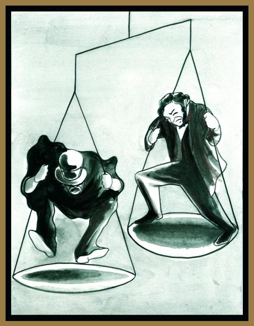 Jekyll y Hyde. Ilustración de Marta Gómez-Pintado. Nórdica Libros.