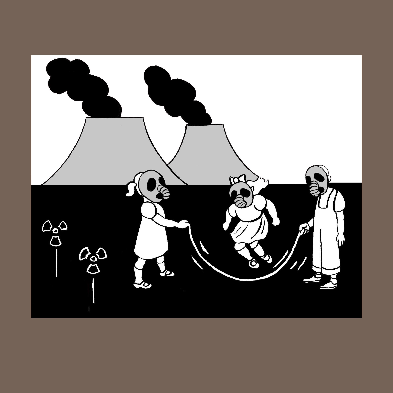 Amenaza nuclear. Ilustración de Marta Gómez-Pintado.