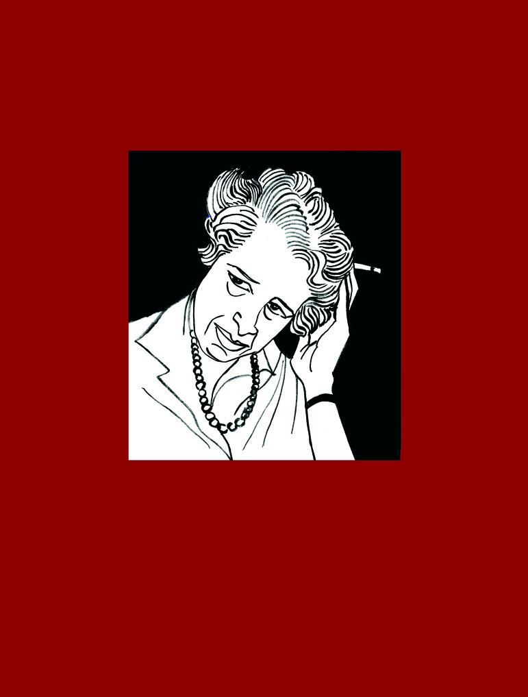 Retrato de Hannah Arendt. Ilustración de Marta Gómez-Pintado