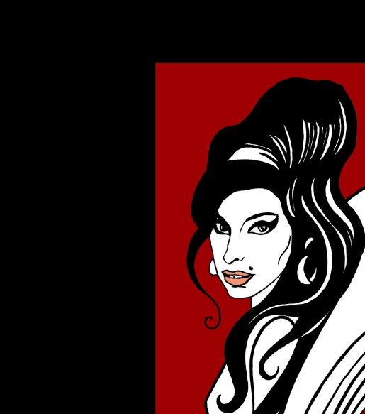 Amy Winehouse. Ilustración de Marta Gómez-Pintado