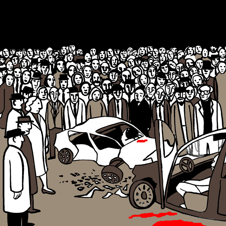 La multitud. Ilustración de Marta Gómez-Pintado