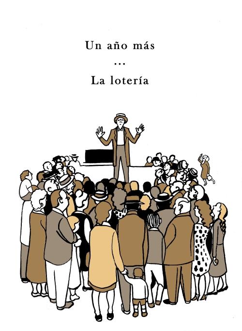 La lotería. Ilustración de Marta Gómez-Pintado