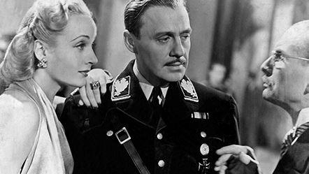 Carole Lombard y Jack Benny en una secuencia de