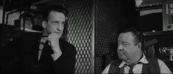 "George C. Scott junto a Jackie Gleason en ""El buscavidas"" (1961), de Robert Rossen"