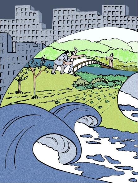 El rumor del oleaje, de Yukio Mishima. Ilustración de Marta Gómez-Pintado