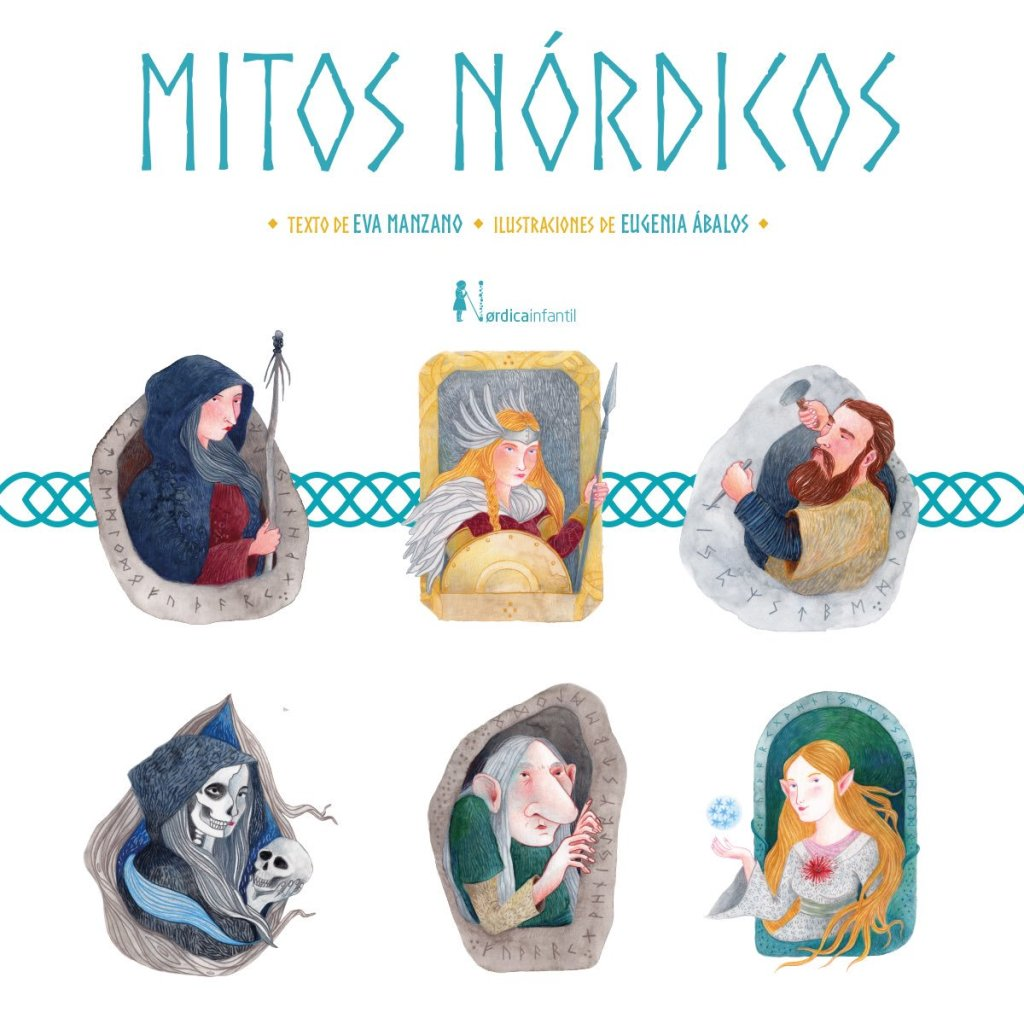 """Portada """"Mitos nórdicos"""", de Eva Manzano y Eugenia Ábalos"""
