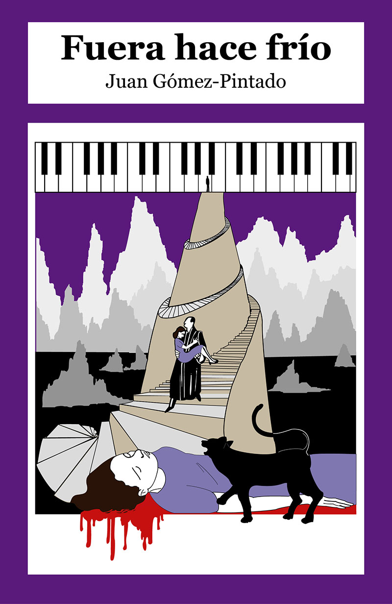 Portada novela Fuera hace frío en violeta