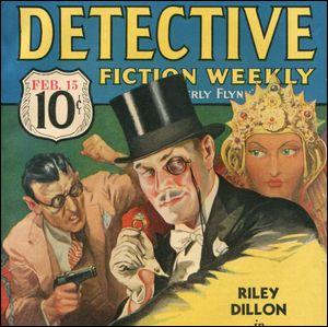 Portada de una revista clásica de detectives