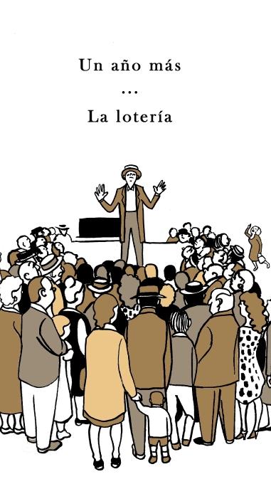 """Ilustración de Marta Gómez-Pintado para """"La lotería"""". de Shirley Jackson"""