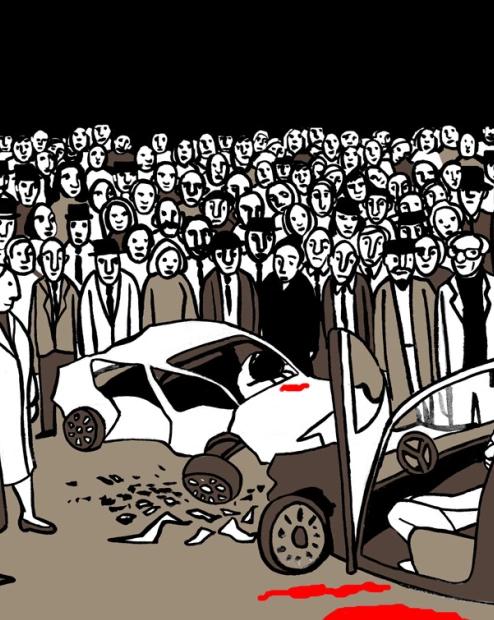 """Ilustración de Marta Gómez-Pintado para """"La multitud"""", de Ray Bradbury"""