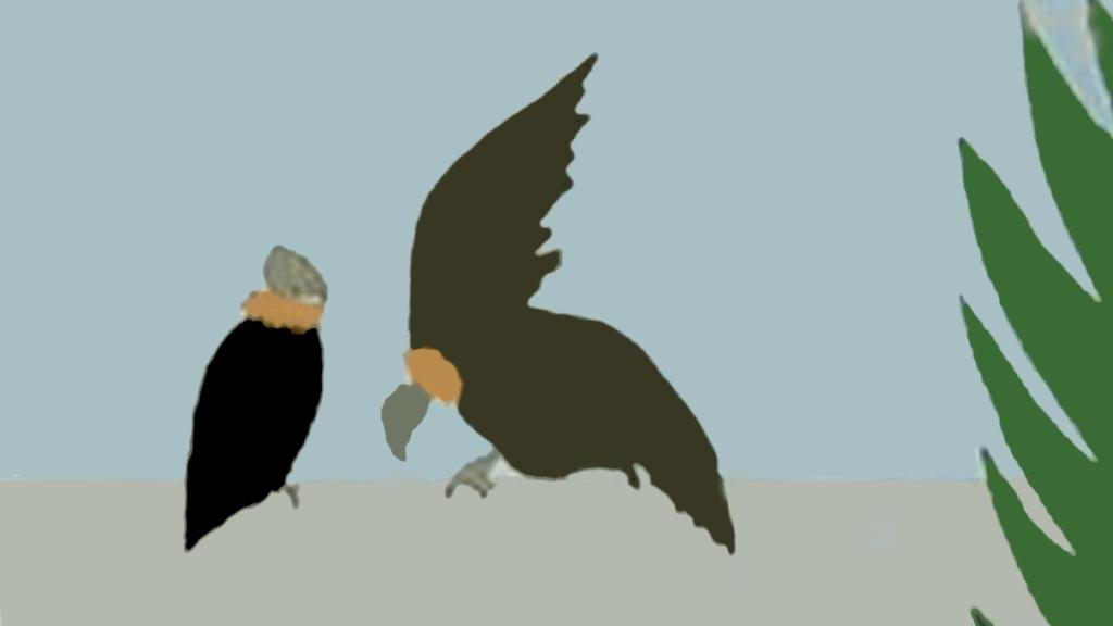 """Buitres, detalle de la portada de """"El revés de la trama"""" de Graham Greene"""