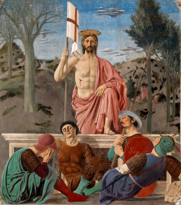 """Reproducción del cuadro """"La resurrección de Cristo"""" (1463-65), de Piero della Francesca"""